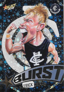 Patrick Cripps, Team Logo Starburst Caricatures, 2019 Select AFL Footy Stars