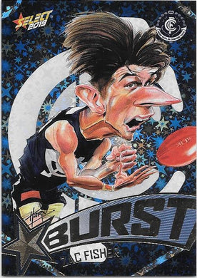 Zac Fisher, Team Logo Starburst Caricatures, 2019 Select AFL Footy Stars