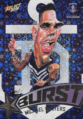 Michael Walters, Team Logo Starburst Caricatures, 2019 Select AFL Footy Stars