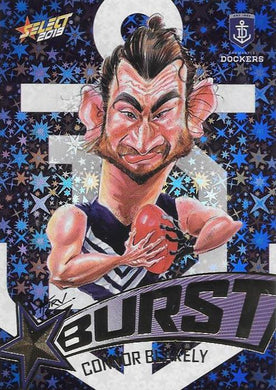 Connor Blakely, Team Logo Starburst Caricatures, 2019 Select AFL Footy Stars