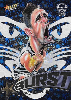 Joel Selwood, Team Logo Starburst Caricatures, 2019 Select AFL Footy Stars