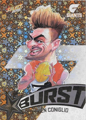 Stephen Coniglio, Team Logo Starburst Caricatures, 2019 Select AFL Footy Stars