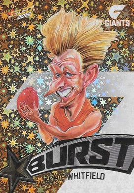 Lachie Whitfield, Team Logo Starburst Caricatures, 2019 Select AFL Footy Stars