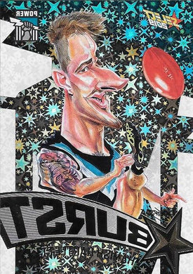 Hamish Hartlett, Team Logo Starburst Caricatures, 2019 Select AFL Footy Stars