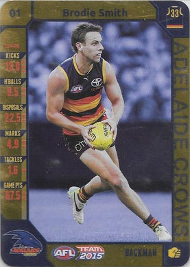 Brodie Smith, Gold, 2015 Teamcoach AFL