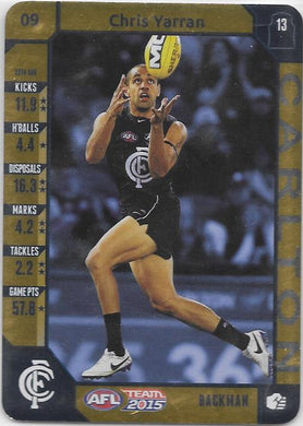 Chris Yarran, Gold, 2015 Teamcoach AFL