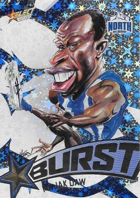 Majak Daw, Team Logo Starburst Caricatures, 2019 Select AFL Footy Stars
