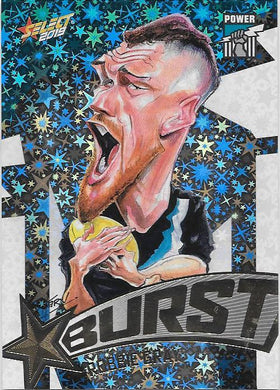 Robbie Gray, Team Logo Starburst Caricatures, 2019 Select AFL Footy Stars