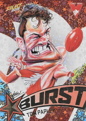 Tom Papley, Team Logo Starburst Caricatures, 2019 Select AFL Footy Stars