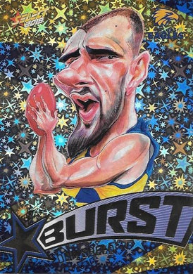 Dom Sheed, Team Logo Starburst Caricatures, 2019 Select AFL Footy Stars