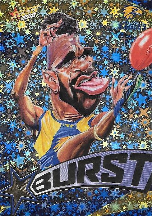 Liam Ryan, Team Logo Starburst Caricatures, 2019 Select AFL Footy Stars