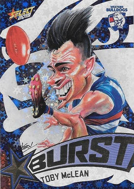 Toby Mclean, Team Logo Starburst Caricatures, 2019 Select AFL Footy Stars