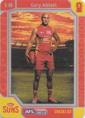 Gary Ablett, Captain Checklist, 2015 Teamcoach AFL