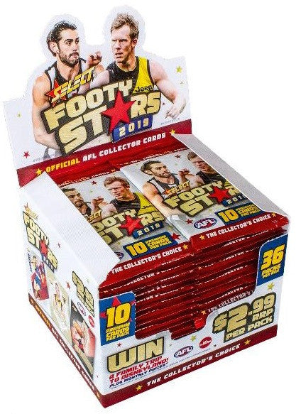 2019 Select AFL Footy Stars 36 pack box