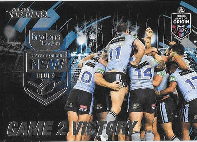 NSW Blues Game 2 Victory, Origin, 2019 TLA/ESP Traders NRL