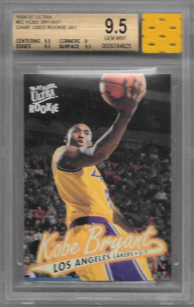 Kobe Bryant, RC with GU Jersey, 1996-97 Fleer Ultra NBA, BGS 9.5