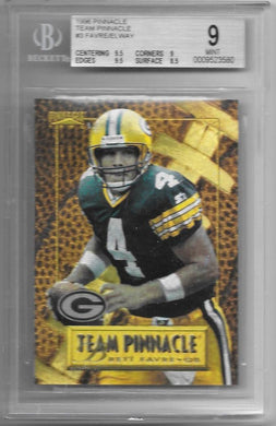 Brett Favre & John Elway, Team Pinnacle, 1996 Pinnacle NFL, BGS 9