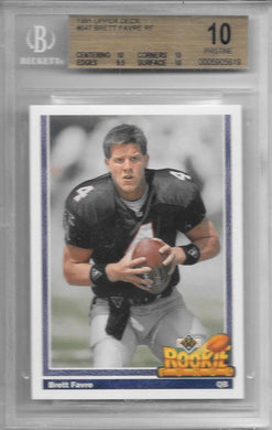 Brett Favre, Rookie Force, 1991 Upper Deck, BGS 10