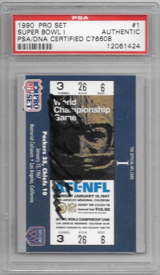 Bart Starr, SIgned 1990 Pro Set Superbowl 1, PSA/DNA Certified