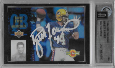 Brett Favre, SIgned 1994 Upper Deck NFL Pro Bowl, GAI Certified Authentic
