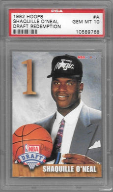 Shaquille O'Neal, Draft Redemption, 1992 Hoops NBA, PSA 10