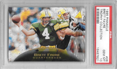 Brett Favre , Trophy Collection, 1995 Pinnacle NFL, PSA 10