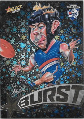 Caleb Daniel, Starburst Black Caricatures, 2018 Select AFL Footy Stars