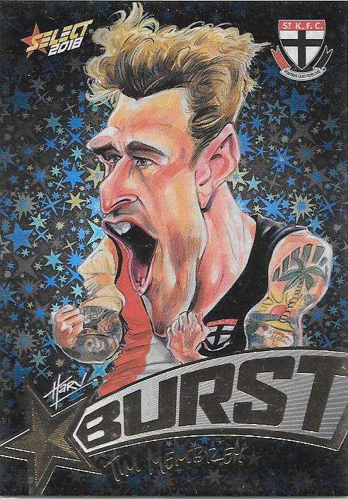 Tim Membrey, Starburst Black Caricatures, 2018 Select AFL Footy Stars