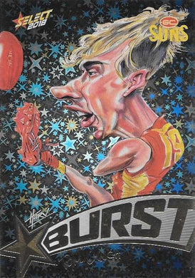 Tom Lynch, Starburst Black Caricatures, 2018 Select AFL Footy Stars