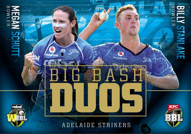 Big Bash Duos, 2018-19 Tap'n'play CA BBL 08 Cricket - 1 to 8 - Pick Your Card