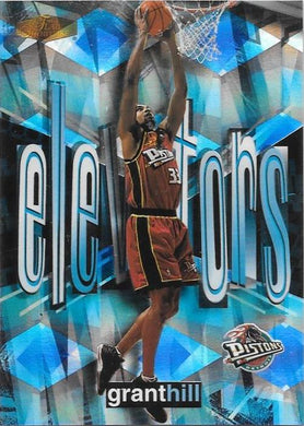 Grant Hill, Elevators, 1999-00 Fleer Flair Showcase Basketball NBA