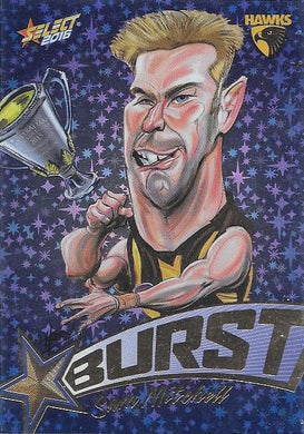 Sam Mitchell, Blue Starburst, 2016 Select AFL Footy Stars