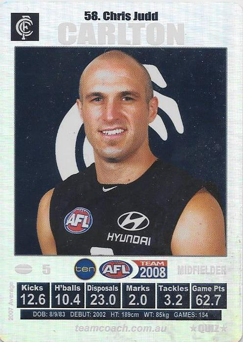 Chris Judd, Silver, 2008 Teamcoach AFL