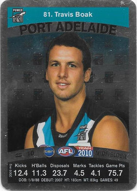Travis Boak, Silver card, 2010 Teamcoach AFL
