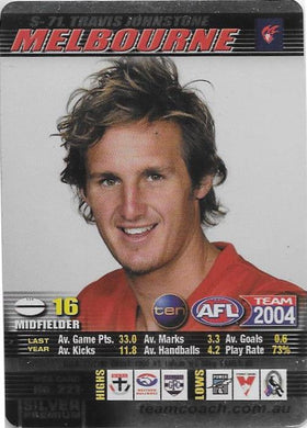Travis Johnstone, Silver card, 2004 Teamcoach AFL