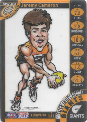 Jeremy Cameron, Magic Wildcard, 2013 Teamcoach AFL