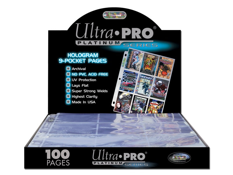 ULTRA PRO 9-POCKET HOLOGRAM PAGES 100ct BOX