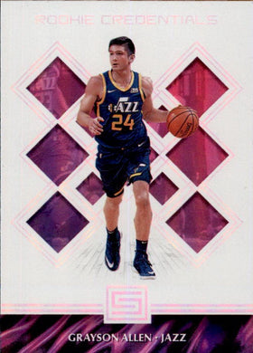 Grayson Allen, Rookie Credentials, 2018-19 Panini Status Basketball NBA