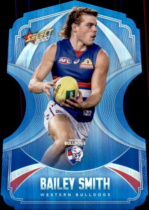 Bailey Smith, Ice Blue Diecuts, 2020 Select AFL Footy Stars
