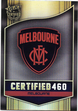 Melbourne Demons Logo Checklist, Certified 460, 2017 Select AFL Certified