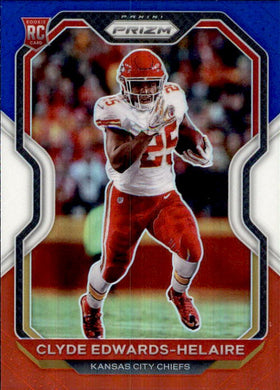 Clyde Edwards-Helaire, RC, Red White Blue Prizm, 2020 Panini Prizm Football NFL
