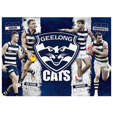 Geelong Cats, 4 Player, 1000 Piece Jigsaw Puzzle