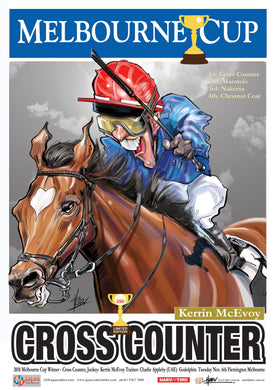 Cross Counter, 2018 Melbourne Cup, Harv Time Poster