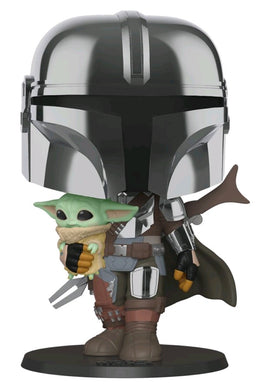 Star Wars: The Mandalorian - Mandalorian with Child Chrome 10