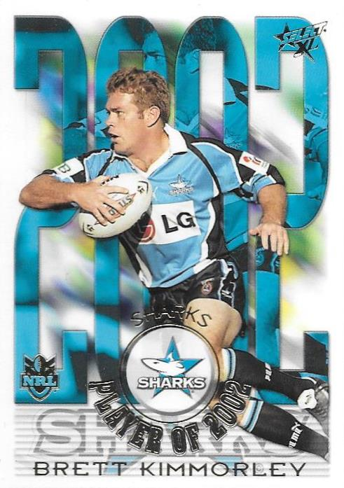 Brett Kimmorley, Club Player of 2002, 2003 Select NRL XL