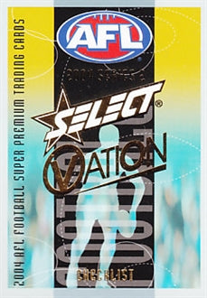 2004 Select AFL Ovation Set of 162 Football cards