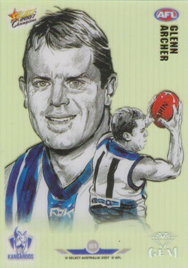 Glenn Archer, Gem card, 2007 Select AFL Champions