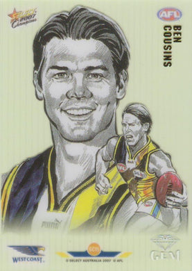 Ben Cousins, Gem card, 2007 Select AFL Champions