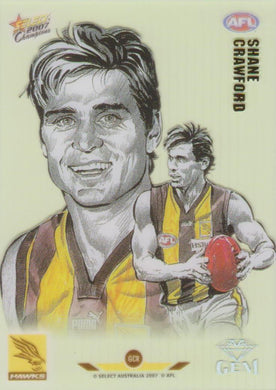 Shane Crawford, Gem card, 2007 Select AFL Champions