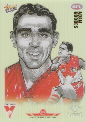 Adam Goodes, Gem card, 2007 Select AFL Champions
